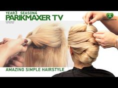 Элегантная вечерняя прическа Elegant evening hairstyle парикмахер тв parikmaxer.tv - YouTube