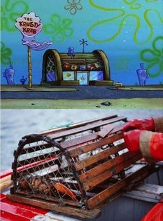 Or a CRAB trap, since that's where Mr. Krabs spends most of his time.