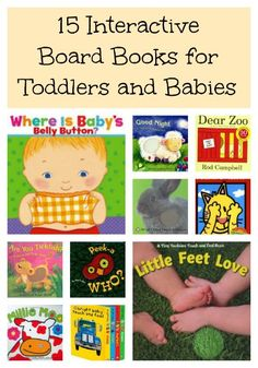 Toddlers Board Books: 15 Interactive Board Books for Toddlers and Babies