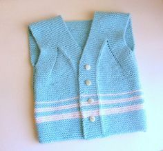 Garter Stitch Baby Vest by Pure Craft, free pattern on Ravelry.