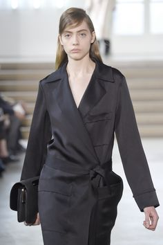 Sumptuous fabrics and clean lines lend a touch of minimalism to the #JilSander #AW15 collection at #MFW