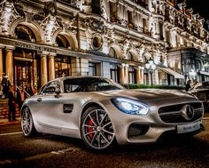 """AMG meets Mega yacht: AMG presented the new Mercedes-AMG GT at the Monaco Yacht Show as part of the """"Designer Visions"""" dinner."""
