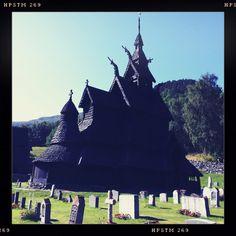 Viking church. Countryside, Norway.