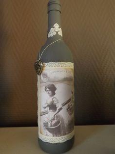 A great idea for empty wine bottles