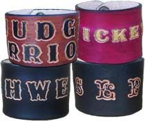 leather cuffs personalized