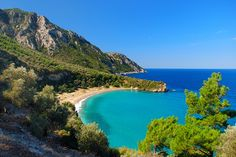 Megalo Seitani beach in Samos Agios Ioannis Beach, Samos Greece, Europe, Greece Islands, Greece Travel, Beautiful Places, Around The Worlds, In This Moment, Water