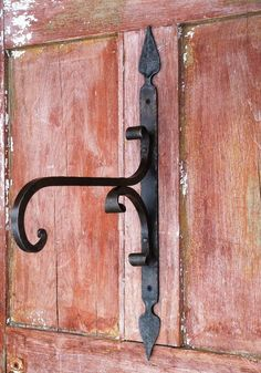 """Here is another plant hanger we offer from our blacksmith shop right here in Vermont. The arm and braces are made from 1/2"""" steel to hold the heaviest plant basket but can also have many other uses, s"""