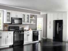 How to decorate a kitchen with black appliances   Decor   Pinterest ...