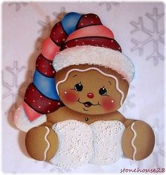 HP GINGERBREAD with Snowballs FRIDGE MAGNET in Crafts, Handcrafted & Finished Pieces, Handpainted Items | eBay