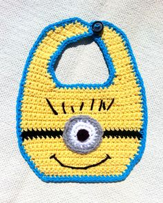 crochet minion bib - Google Search