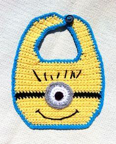 crochet minion bib - Google Search