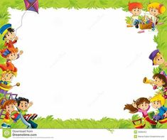 Templates Certificate Background, School Border, Boarder Designs, Kindergarten Portfolio, School Forms, Boarders And Frames, Kids Background, Classroom Board, Borders For Paper
