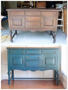 Making Over An Antique Sideboard Buffet Dining Room