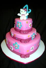 Image result for hello kitty hearts cake