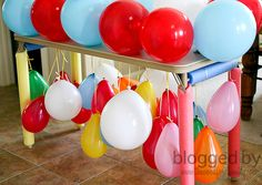 obstacle course- balloon table