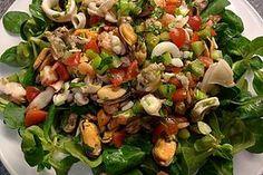 Meeresfrüchtesalat mit Weißweinessig