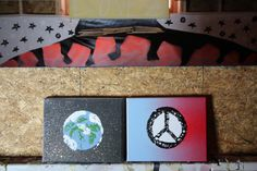 This pair of (8 x 10) canvases depicts our world and a sign of peace. The thought of world peace is tough to comprehend. Regardless of