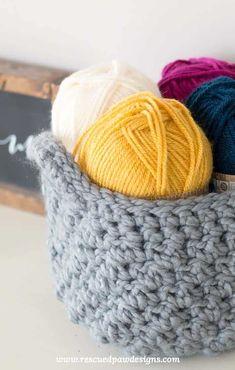 Crochet Storage Basket Pattern - How to Make A Crochet Basket