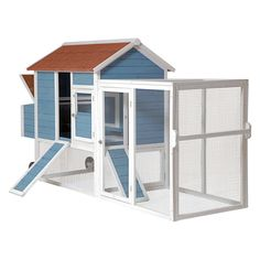 Advantek Tractor House Poultry Hutch - Chicken Coops at Hayneedle