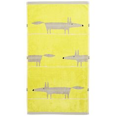 Mr Fox Citrus Hand Towel by Scion : Wallpaper Direct Wallpaper Direct, Of Wallpaper, Guest Towels, Hand Towels, Scion Mr Fox, Scion Fabric, R Colors, Knitted Cushions