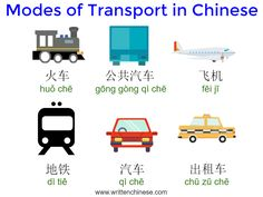 Learn some simple transportation vocabulary and phrases to use when traveling in China. Mandarin Lessons, Learn Mandarin, Chinese Phrases, Chinese Words, Chinese Flashcards, Phrases And Sentences, Chinese Language, English Language, Chinese English