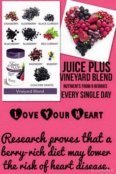 Juice Plus+ vineyard blend. Berries are so full of antioxidants which fight free radicals in our bodies. These antioxidants help our bodies from getting sick, so we can focus on the important things like playing with our kids! www.marissaharnden.canada.juiceplus.com
