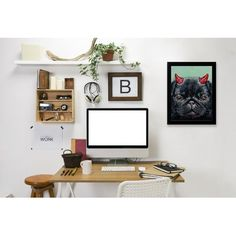 East Urban Home 'Devil Pug' Print