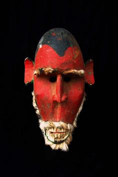 "Masque Bozo - Mali  - Private collection of Stephane Peray - French artist in Bangkok . This mask is featured in the clip of the Avener ""Hate street dialogue"" at 3:08   www.youtube.com/watch?v=pWUPGe2rMo8"