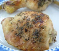 Baked Lemon Tarragon Chicken from MotherWouldKnow. So easy, you'll make it a weeknight meal tradition.
