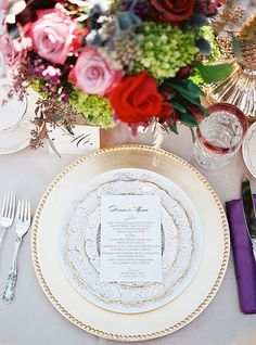 Color, creativity, and style–those are the three main factors that define the perfect table setting. So we've chosen a few of the best reception wedding ideas that will surely knock your socks off. See below for a little inspiration, and pin all our favorites to your wedding board! Click here to see more gorgeous wedding […]