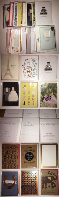 Greeting Cards and Invitations 170098: Lot Of 30 Hallmark Signature Any Occasion Greeting Cards Value - $209.54 -> BUY IT NOW ONLY: $44.99 on eBay!