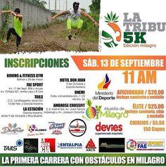 Activa tu mañana del 13 de septiembre en Milagro; #LaTribu5K está organizando una carrera con obstáculos para esos intrépidos concursantes en donde pondrán a prueba su resistencia y habilidad ante esta ardua prueba. Inscríbete pronto para que puedas participar y sentir adrenalina al 100%.