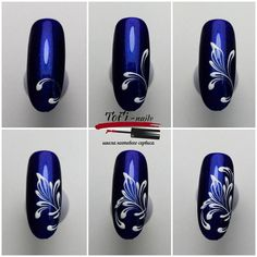 Step by step manicure Manicure Nail Designs, Nail Manicure, Acrylic Nail Art, Gel Nail Art, 3d Nails, Cute Nails, Simple Nail Designs, Nail Art Designs, Nail Art Modele