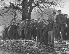 Civil War/Greece Villagers standing on the Main Square of Kastonia.Location:Louzesti, Greece Date taken:December 1947 Photographer:John Phillips Greece Pictures, Old Pictures, Military Branches, History Of Photography, In Ancient Times, Athens Greece, Crete, Vintage Photos, The Past