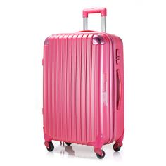 Ambassador® Scallop Expandable Suitcase 20'' Carry On Luggage Spinner Pink #Ambassador #pink #Travel #style