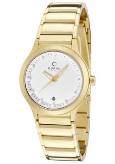 Obaku V115LGWSG, This classic Obaku timepiece has a twist of fashion. Its versatility allows this timepiece to display its elegance whatever the occasion.