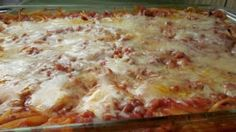 From Grandma Loy's Kitchen: Easy Cheesy Spaghetti Bake-Frugal Meal