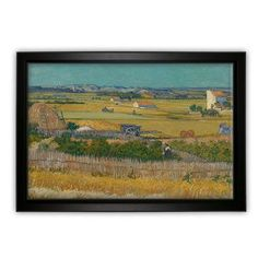 WexfordHome A Harvest Landscape with Blue Cart by Vincent Van Gogh Framed Painting Print