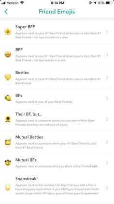 Discover recipes, home ideas, style inspiration and other ideas to try. Snapchat Friends List, Friends Emoji, Snapchat Friend Emojis, Snap Friends, Snapchat Stickers, Instagram Emoji, Instagram And Snapchat, Instagram Quotes, Cute Snapchat Names