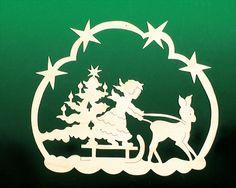 Fensterbild Weihnacht Engelschlitten