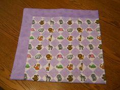 Receiving blanket.  Reversible flannel in by SewingBoxTreasures, $20.00
