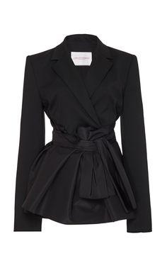 Get inspired and discover Carolina Herrera trunkshow! Shop the latest Carolina Herrera collection at Moda Operandi. Wool Mini Skirt, Carolina Herrera, Colored Blazer, Classy Outfits, Fitness Fashion, Jackets For Women, Women's Jackets, Women Wear, Fashion Outfits