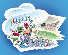 Ragazzi, ci siamo: Domenica 10 giugno, alle ore 18:00 in Arena Gdansk, inizia EURO2012 della nostra ITALIA! Stanotte le nostre mascotte hanno fatto un bel sogno e si sono viste sugli spalti dello stadio, così... Voi come ve li immaginate gli Europei? www.brunelli.it