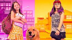 Divulgação - Larissa Manoela como Manuela e Isabela e o cão Manteiguinha