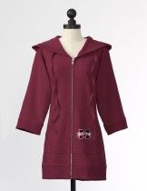 The Mississippi State Hooded Team Tunic in Maroon