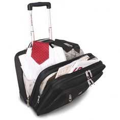 Swiss Gear Rolling Tote - Overnight Bag - Black