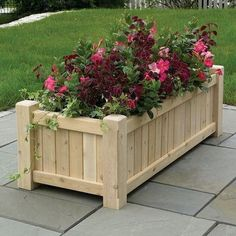 Large wooden planters- The Hamptons are large classic wooden garden planters hand crafted in our own workshop from British grown red cedar Cedar Planter Box, Garden Planter Boxes, Wooden Garden Planters, Outdoor Planters, Diy Planters, Raised Planter, Flower Planters, Wooden Flower Boxes, Diy Flower Boxes