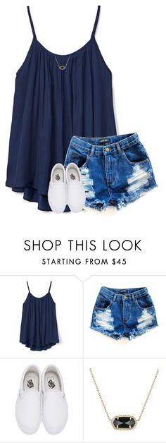"""you're a gem"" by hailstails ❤ liked on Polyvore featuring Gap, Vans and Kendra Scott"