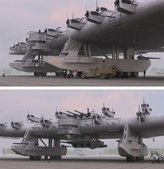 The Kalinin K-7, a Russian bomber plane concept from the 1930s. What the heck?