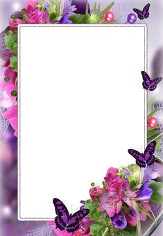 Efekt zdjęciowy z kategorii: Ramki dla kobiet. Boarder Designs, Page Borders Design, Rose Frame, Flower Frame, Flower Backgrounds, Flower Wallpaper, Disney Frames, Boarders And Frames, Photo Frame Design